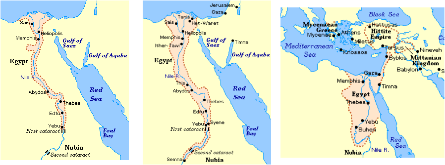 Ancient Egypt - Map of egypt old kingdom